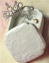 Porcelain Dolly Box With Jewelry