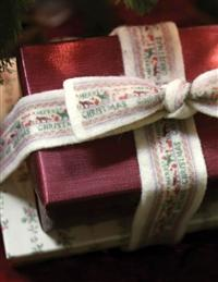Merry Christmas Wool Ribbon
