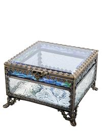 Blue Skies Footed Jewelry Box