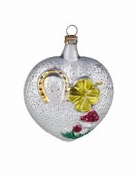 19th C GERMAN MERCURY GLASS ORNAMENT (LUCKY CHARM)