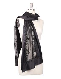 Midnight Rendezvous Satin Scarf