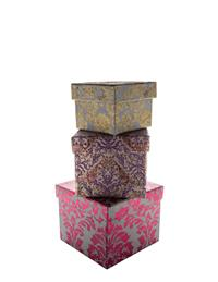 Brocade Nesting Boxes (Set Of 3)