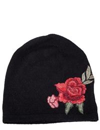 Rose Patch Cashmere Stocking Hat