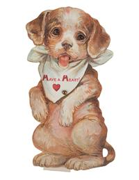 Have A Heart Puppy Mechanical Card