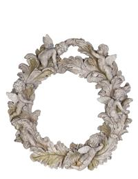 Cupid Wreath Wall Plaque