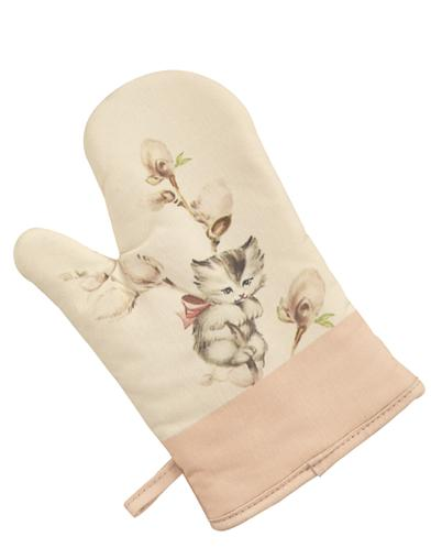 PUSSY WILLOWS OVEN MITT