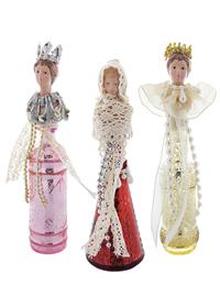 Royal Mercury Glass Ornaments (Set Of 3)