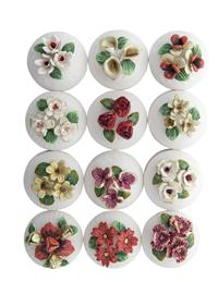 Winter Floral Lidded Boxes (Set Of 12)