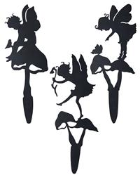 Fairy Silhouette Garden Stakes (Set Of 3)