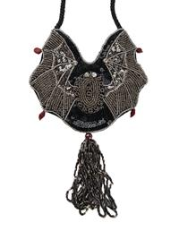 Vampire Bat Beaded Purse