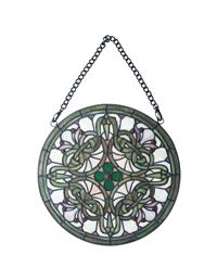 Gaelic Stained Glass Hanging