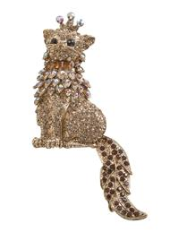 Swinging Tail Cat Brooch