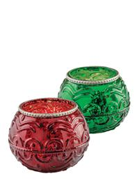 Christmas Baubles Tea Light Holders (Set Of 2)