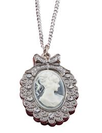 Cameo Slide Timepiece Necklace