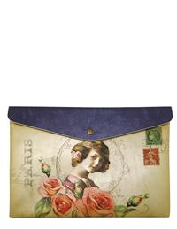 Victorian Ephemera Parisian Rose Envelope Bag