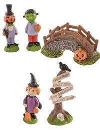 Halloween Town Miniature Fairy Garden (Set Of 5)