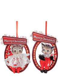 Meowy Christmas Ornaments (Set Of 2)