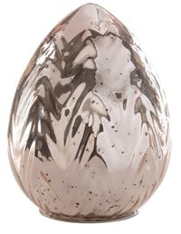 Rose Mercury Glass Egg