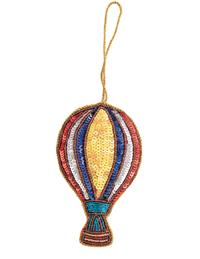 Vibrant Hot Air Balloon Ornament