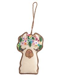 Beaded Llama Ornament