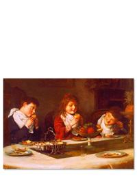 Children Eating (Pkg Of 6 Holiday Cards)