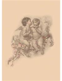 2 Cherubs (Pkg Of 6 Blank Cards)