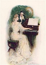 Bride At Piano (Pkg Of 6 Blank Cards)