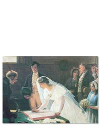 Bride Signing (Pkg Of 6 Blank Cards)