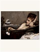 Woman In Bathtub (Pkg Of 6 Blank Cards)