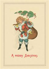 Santa's Helper (Pkg Of 15 Holiday Cards)