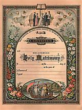 Antebellum Marriage Certificate