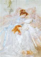 Woman & Girl Resting (Pkg Of 6 Mother's Day Cards)