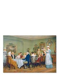 Holiday Dinner (Pkg Of 6 Holiday Cards)