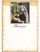 Father Holding Baby (Pkg Of 8 Thank You Cards)